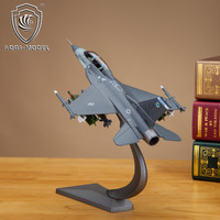 Model f-16d 2 seater fighter alloy