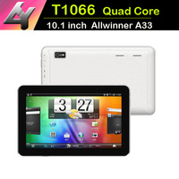 New Models 10.1 inch Allwinner A33 Tablets pc  With LED Flash Camera Android 4.4 HD Screen Quad Core 1.4GHZ 1GB/8GB Bluetooth