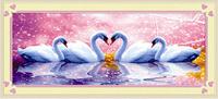 wedding gift swan Diy diamond painting square diamond  drill resin diamond embroidery painting free shipping