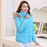 2014 New Arrival Women Winter Coat European Style Fur Collar Men-made Cotton Outwear,SB294