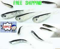 100pcs/lot 75mm 2.5g Soft Tiddler Bait Fluke Fish Fishing Lures Saltwater Lure Tackle