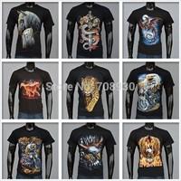 9kinds Animal 3D t-shirt printing cotton men & women short-sleeved t-shirt streetwear 3D TEE