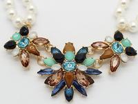 2014 new fashion trend of classic retro gem necklace   A76