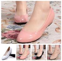 2014 New spring autumn women Korean Princess patent leather round toe flat Single shoes Professional OL fashion tenis shoes X300