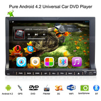 Android 4.2 DVD Automotivo,2 din 7 inch Universal Car Stereo,with Car DVD Player+Radio+MP3 Audio Player+ GPS Navigation+BT+WIFI