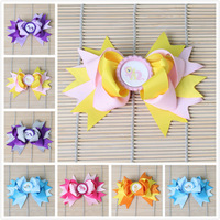 6pcs /lot  6colours 2014 bottle cap my little pony hair bows children accessory ribbon