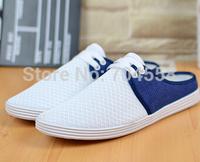 New 2014 summer mesh cloth size(39-44)blue+grey+white breathable men's sandals fashion men sneakers korean men's flats
