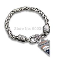 2015 New Arrival Denver Broncos Sporty Logo Charm Bracelet Bangle