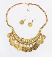 new vintage tribal statement choker necklace set fashion jewelry 2014 wholesale exaggerated jewelry set