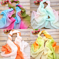 New 2015 Ladies Scarves Women Bright Color Silk Lady Neck Scarf  WS015