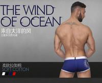 2014 Pink Hero Men  Boxers Underwear  Sexy Low Waist Boxer Shorts Cotton Printed  Boxer Trunks  -Free Shipping