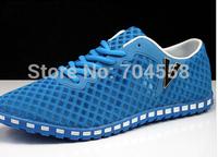 New 2014 summer mesh cloth size(39-44)5 color breathable men's sandals fashion men sneakers Beach shoes korean men's flats
