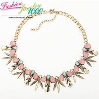 Individual Design Tear Drop Crystal Dangle Collar Bib Necklace Fashion Chunky Statement Choker Metal Jewelry Women Party Date