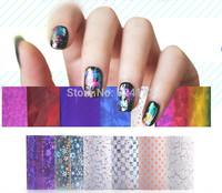 new Fashion Nail Art Transfer Foil Nail Sticker Tips Decoration