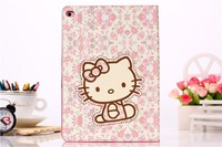 Hello Kitty Design Case elk cASE Tablet Leather Case Wallet Stand Case  For Apple iPad 6 iPad Air 2
