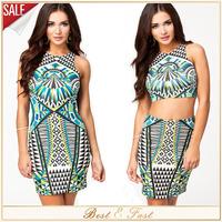 Plus Size 2XL Women Casual Summer Sexy Geometry Pattern Modal Dress Mini Bodycon Club Party Dresses Sleveless Vestidos 2014 New