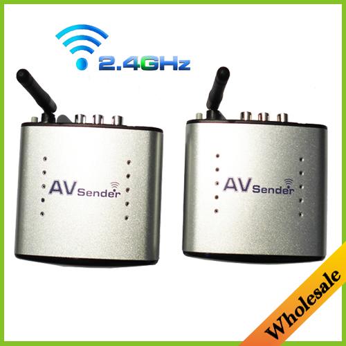 Hot 2.4G Wireless AV Transmitter & Receiver Audio Video sender TV Signal receiver IR Remote Extender 3 RCA PAT330,Free Shipping(China (Mainland))