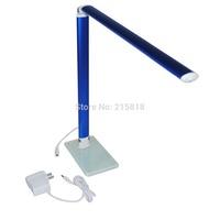 Metal Multi-angle Pressing keys Control Metal 24 LED Table Lamp White Light Desk Study Reading Lamp Blue Color