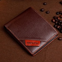 Free Shipping! New High quality Men's Fashion vintage Leather Short  wallets Man Purse Men Wallets C3293