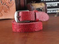 100%  Genuine Leather Vintage Belts For Women Fashion ladies Belt Cintos Femininos Woman Strap Female Clothing Ceinture WBT0054