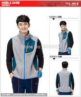 New 2014 Autumn Winter Casual Hooded Vest Men Windproof Waistcoat Couples Sleeveless Jacket 3 Colors Size:S M L XL XXL