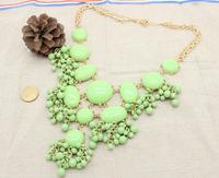 2014 new fashion romantic retro gem necklace  A84