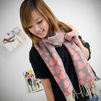 New 2015 Women Scarf Ladies Wool Spinning Scarves Lady Pashmima heart Shawl WS026