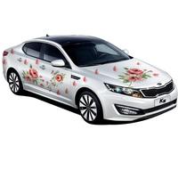 Fashion Paeonia suffruticosa flower Car stickers decals PVC Engraving printing