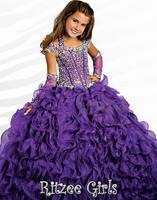 31 2014 crystal beads ball gown flower girl dresses for weddings girls pageant dresses prom dress shine dress custom made 2015