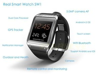 Real Bluetooth Smart Watch GPS 5.0MP camera Android Wear SW1 support Android and IOS  for 11 11 shopping festival