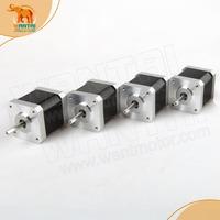 4pcs NEMA17 for 4000g.cm CNC stepper motor stepping motor/1.7A wantai cnc motor 42BYGHW609P1, CNC 3D Makebot Printer/ Printing