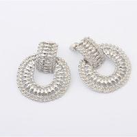 Free Shipping+No Minimum Spending&Street beat round metal earrings