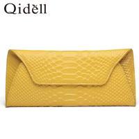 Lady crocodile clutch 2014 new cell phone wrist purse long clutch bag tide leather