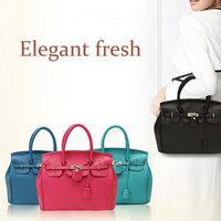Christmas Bag for Women Posh Design PU Leather Satchels Boston Ladies Handbag Big Purse Women Bag 2015 Free Shipping