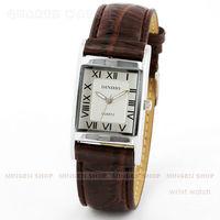 MINGEN SHOP - Casual Square Case Roman Dial Leather Men Lady Unisex Business Quartz Watch Q682