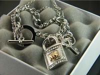 2014 Hot-selling  Lock diamond  OT buckle  couple bracelets