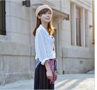 2014 new Korean version of the fall and winter days wool beret painter cap princess hat cap wholesale women Shibei Lei