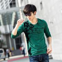 Autumn new style Korean version of men's crew neck cotton long sleeve t-shirt M-2XL