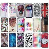 Coloured eyes animal UK US  flag skeleton Custom Hard Plastic Mobile Phone Case Cover For iPhone 6 4.7