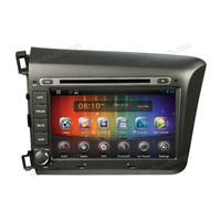 dvd player auto with univesal car radio antenna  for Honda Civic 2012(S8036) with car radio antenna plug