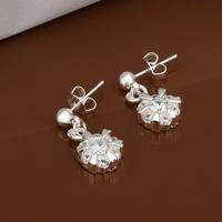 Hot Sale!!Free Shipping 925 Silver Earring,Fashion Sterling Silver Jewelry Austria Crystal Earrings SMTE475