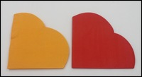Food-grade Plain Color Love Shape Paper Napkin Princess Event & Party Tissue Napkin Decoration Paper  1pack/lot