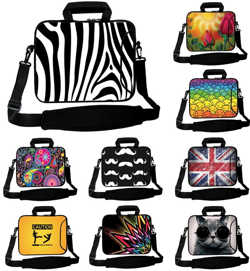 zebra mulher laptop pc saco 10'' 10.1 10.2 10 polegadas computador bolsa laptop ombro saco sacos do mensageiro notebook netbook mochila(China (Mainland))