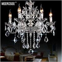 Classic Metal Crystal chandelier Light Golden Color Silver Crystal Chandelier Lamp