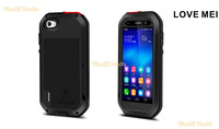 LOVE MEI Extreme Powerful Aluminum Waterproof Metal Case For Huawei honor 6 + Gorilla Glass Free shipping