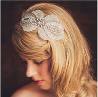 2014 Vintage handmade rhinestone flower headbands wedding bridal hair accessories  XH89