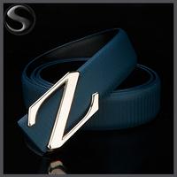 Fashion Men Belt New Design letter Z Buckle Brand Design Genuine Leather Men Belt Strap 4 Colors Drop Shipping