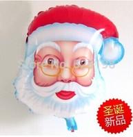 "Balloon Father Christmas Party Decoration Xmas Santa Claus balloon  Baby Kids Cartoon Balloons Gift  5 pcs/lot  24"""