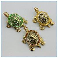 Sea Diamond Turtle Crystal Studded Pewter Jewelry Trinket Box Free Shipping SCJ210-5