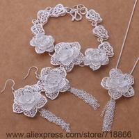 AS376 925 sterling silver Jewelry Sets Bracelet 284 + Necklace 699 + Earring 588  /awmajnta bieajzla